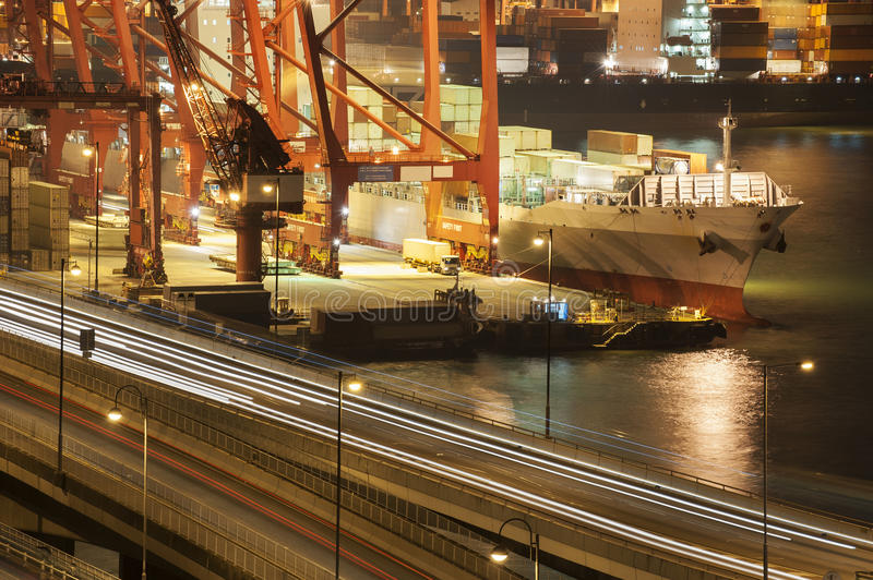 Download Container port stock image. Image of export, goods, highway - 25947313
