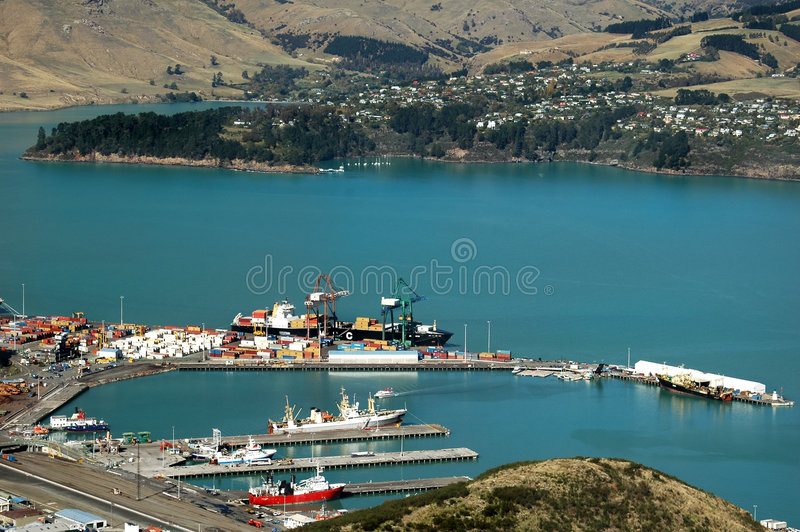 Container Port royalty free stock photo