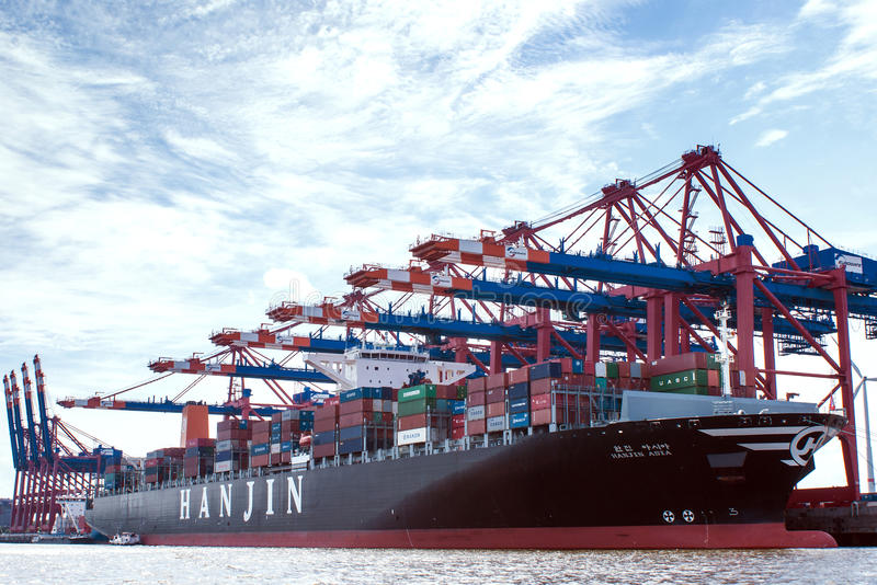 Download Container-port Hamburg editorial photo. Image of goods - 36605706
