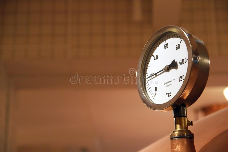 Container pressure meter. royalty free stock photo