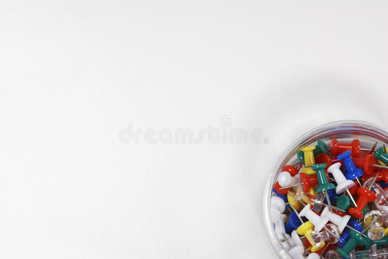 Download Container of Push Pins stock photo. Image of polychromatic - 12640130