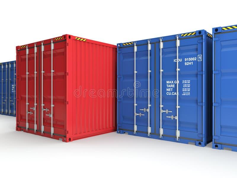 Container rosso immagini stock