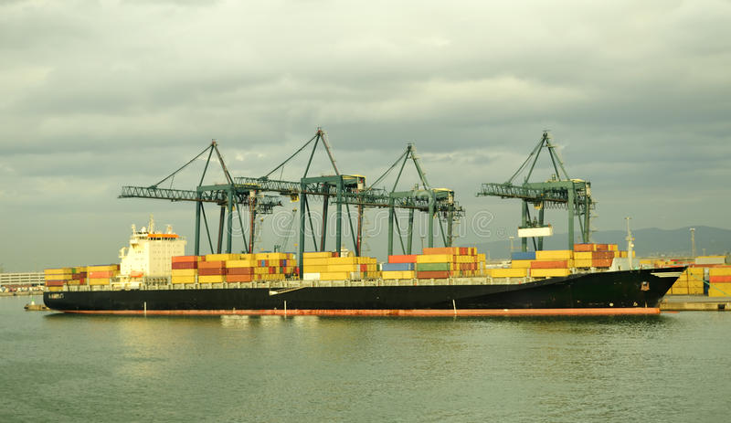 Download Container ship stock image. Image of container, merchant - 11130599