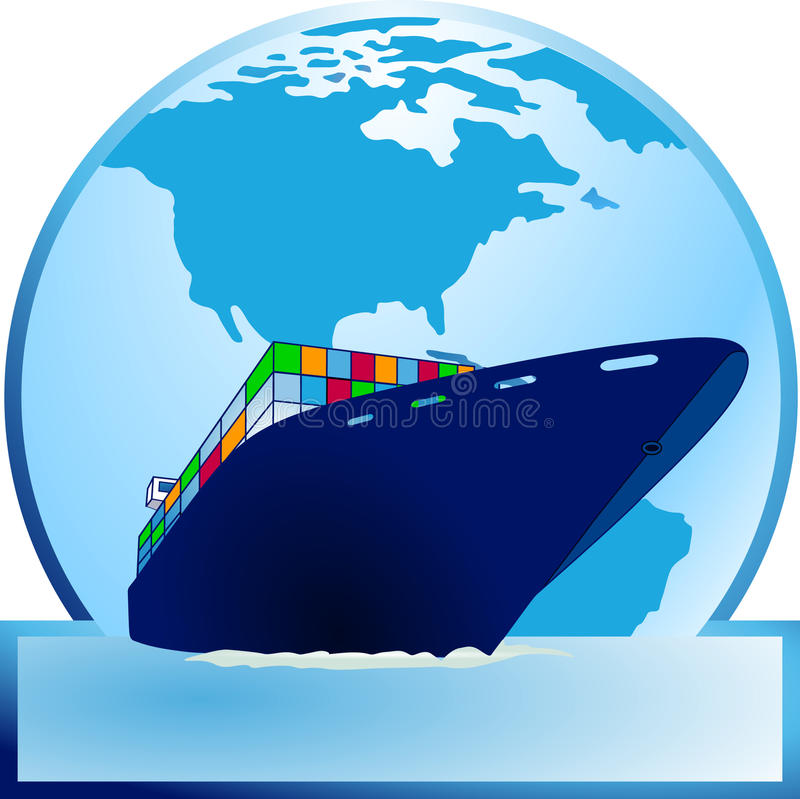 Container-ship vector illustratie