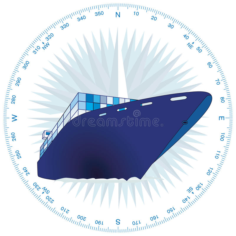 Download Container ship stock vector. Illustration of navigation - 14177171