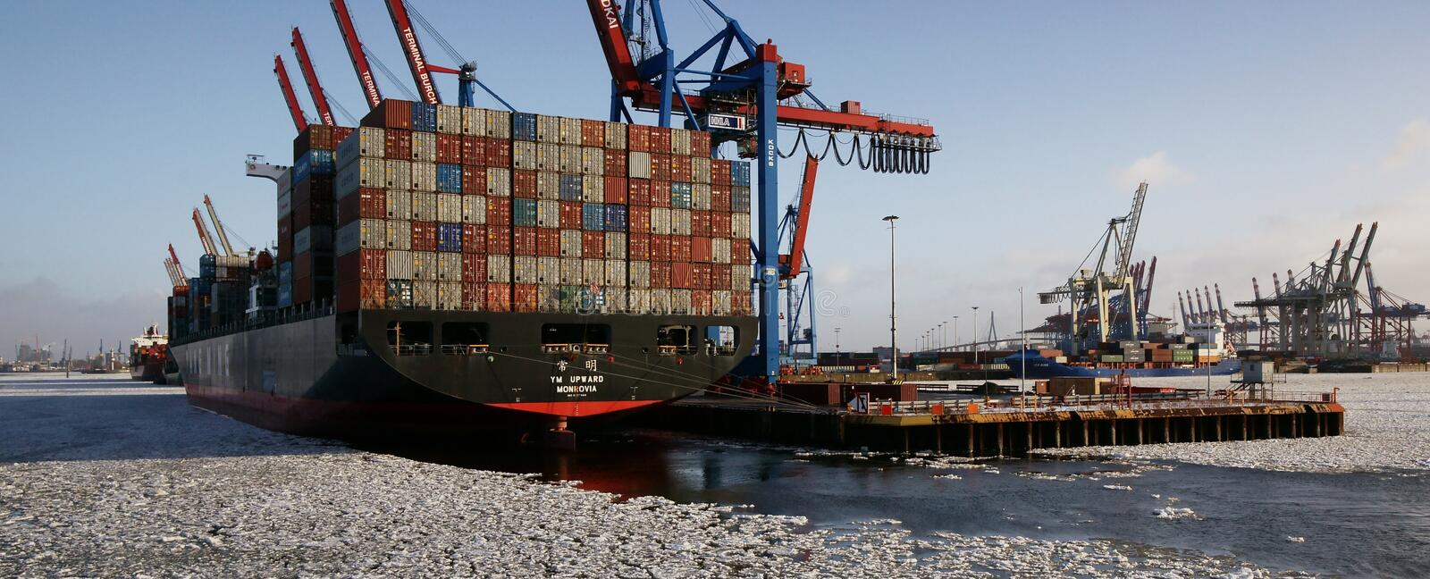 Download Container Ship editorial photography. Image of water - 17659857