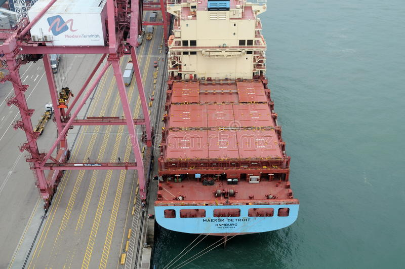 Container Ship Editorial Stock Photo