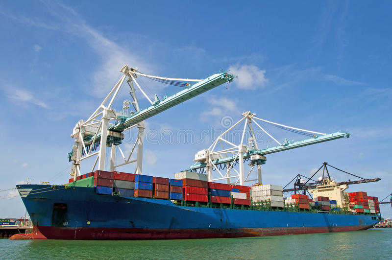Download Container ship stock image. Image of goods, coast, customs - 24850117