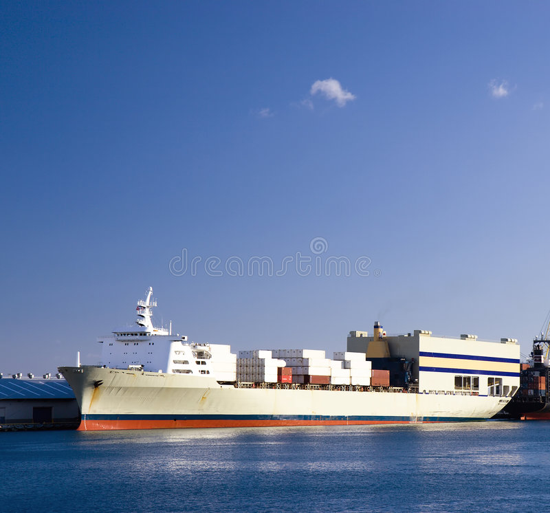 Download Container Ship stock image. Image of commerce, large, cargo - 6603685