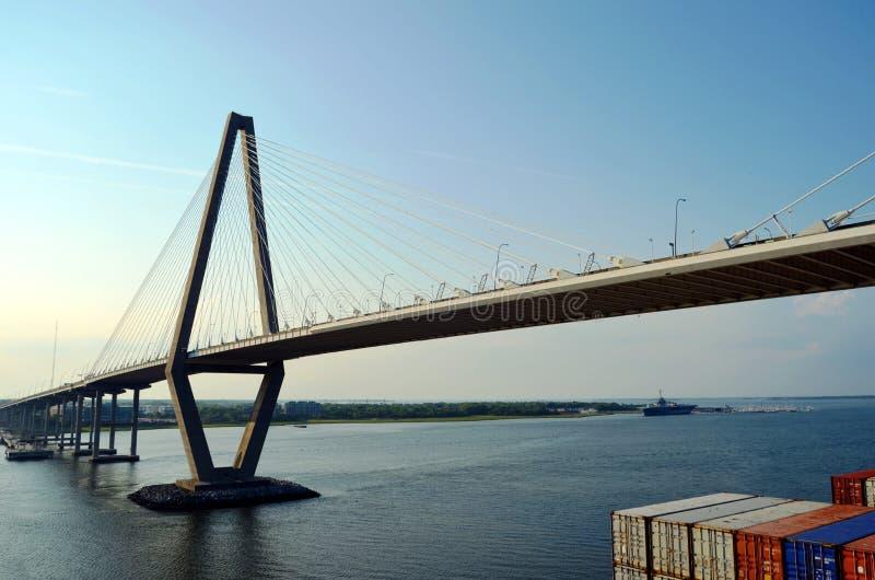 Arthur Ravenel Jr. Bridge in Charleston, South Caroline. royalty free stock photo