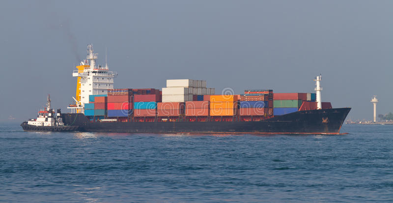 Download Container Ship stock image. Image of transport, commercial - 32890613