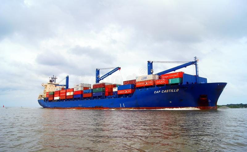 Download Container Ship Entering Cartagena Editorial Image - Image of movement, tanker: 22586850