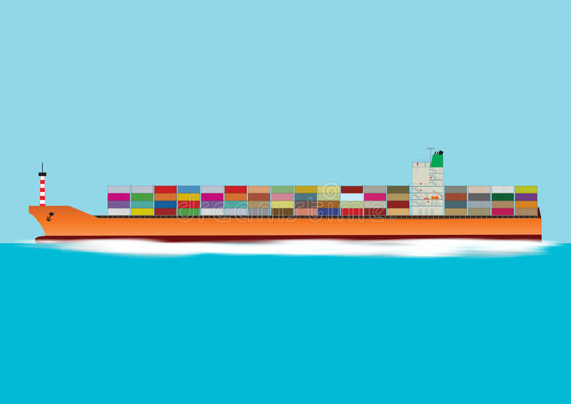 Download Container Ship stock vector. Image of carrier, ocean - 32591984