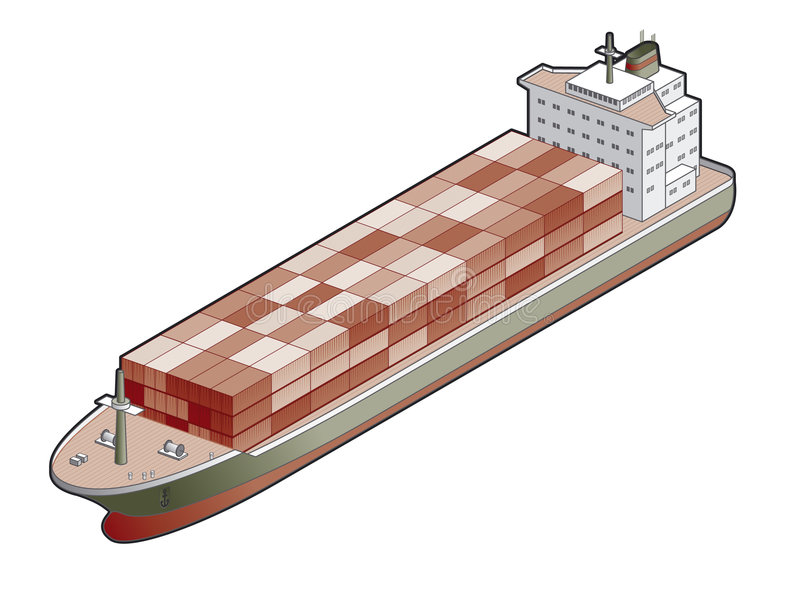 Container Ship Icon. Design Elements 41a royalty free illustration