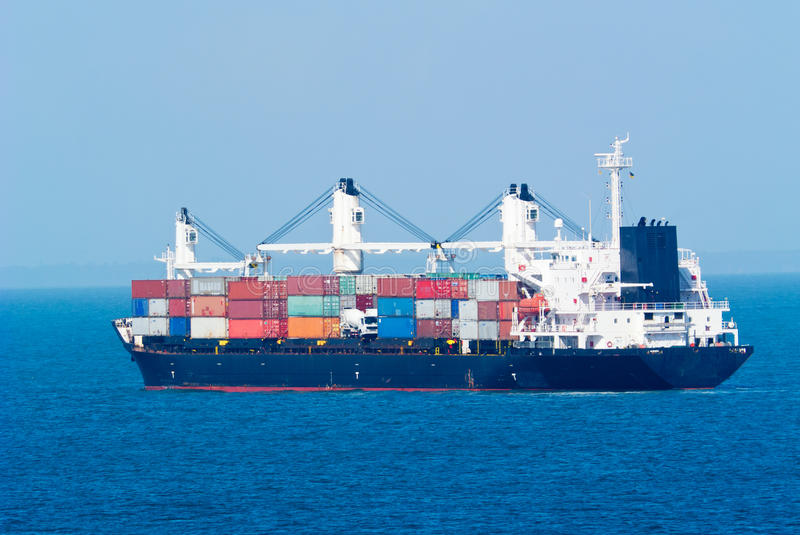 Download Container ship stock image. Image of merchant, maritime - 31614299