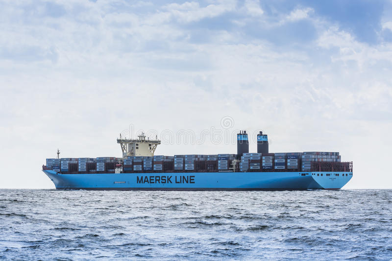 Container ship Maribo Maersk stock photo