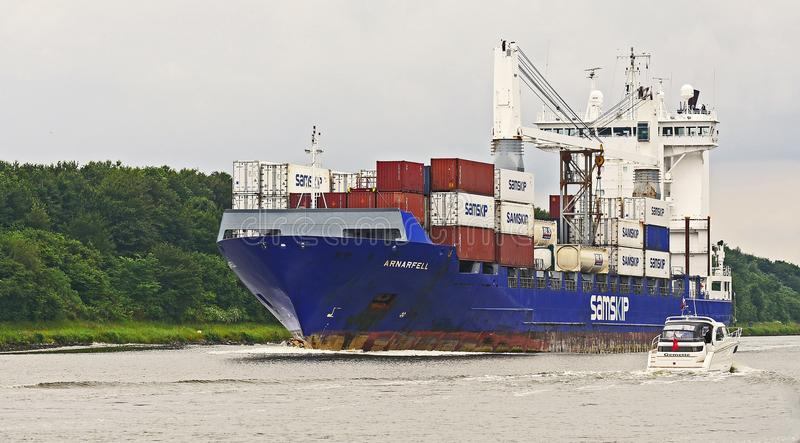 Container Ship, Ship, Water Transportation, Panamax stock photography