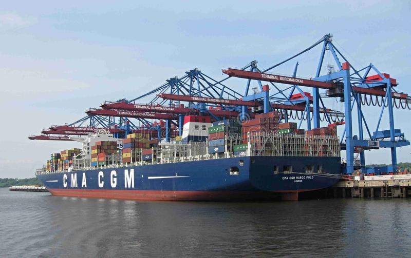 Container Ship, Water Transportation, Panamax, Mode Of Transport royalty free stock image
