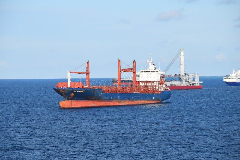 Container Ship, Water Transportation, Ship, Cargo Ship stock photo