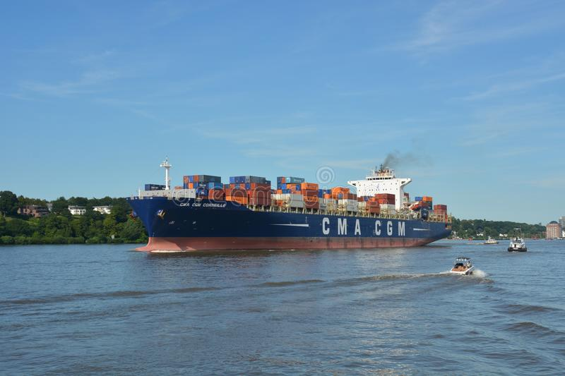 Container Ship, Water Transportation, Waterway, Ship stock photo