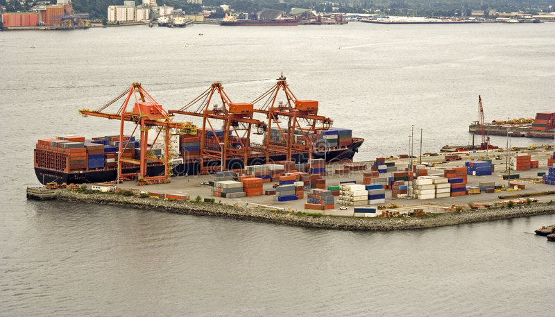 Download Container shipping stock photo. Image of cargo, burrard - 408202
