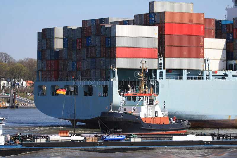 Download Container Shipping V stock image. Image of empty, dock - 5376099