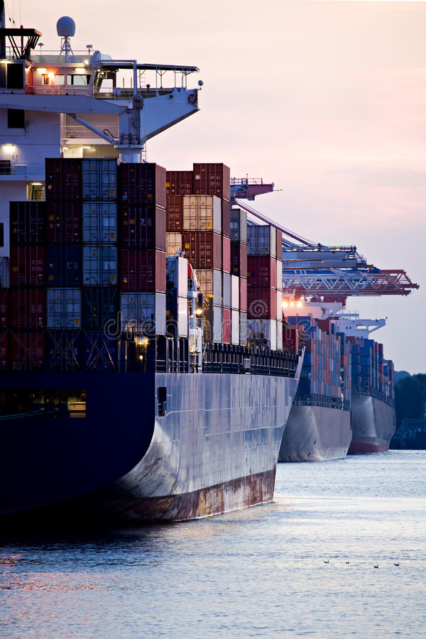 Download Container Ships Docked In Port Stock Photo - Image: 5976462