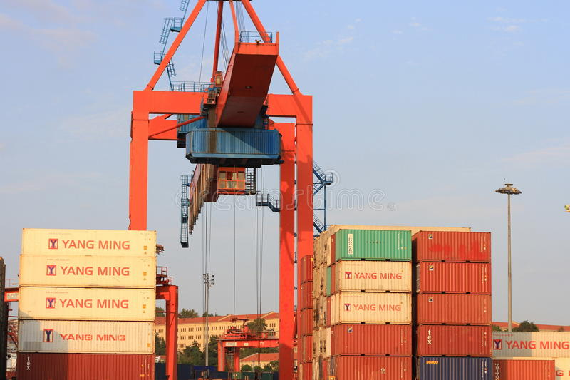 Download Container Stacks editorial image. Image of lift, harbor - 26797775