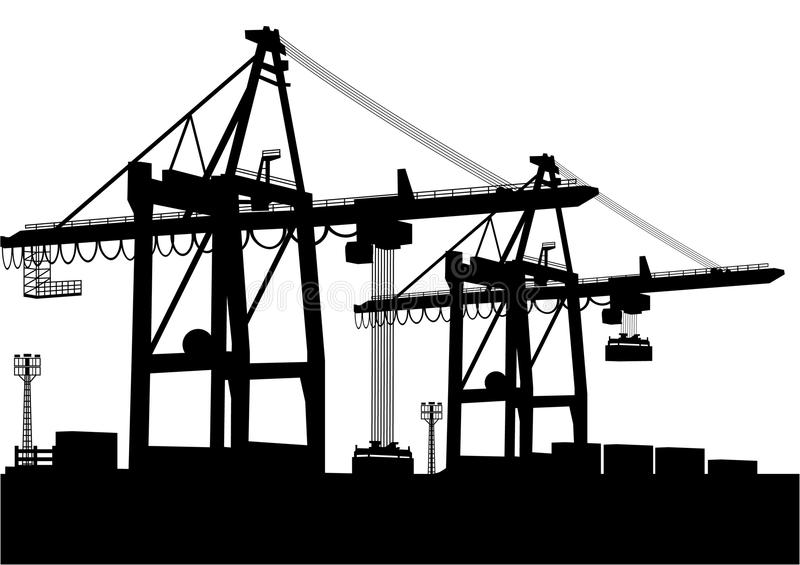 Download Container-Terminal stock vector. Illustration of load - 18078228