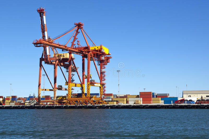 Download Container Terminal stock image. Image of crane, industry - 23880691