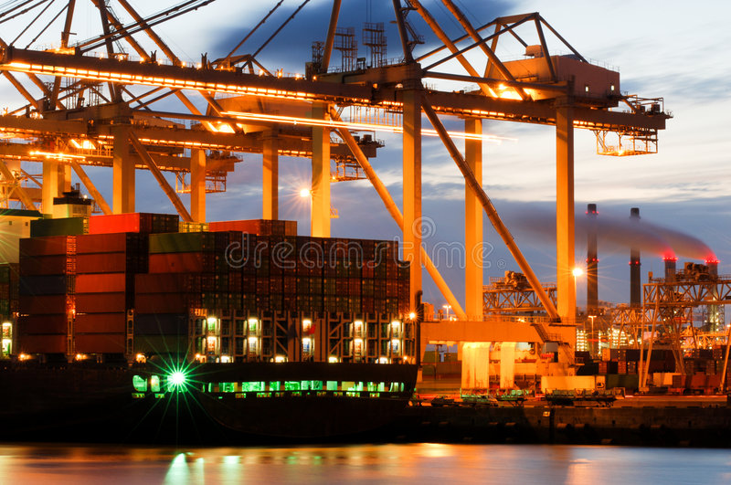 Download Container Terminal Activity Stock Image - Image: 3105907