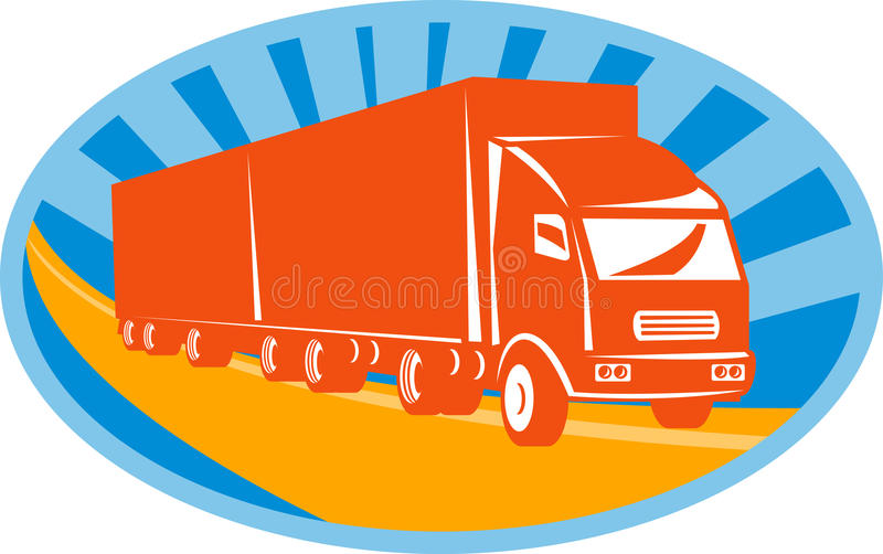 Container van truck and trailer stock images