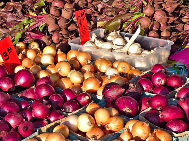 Container van wortelsgewassen in een kleinhandelsvertoning stock foto
