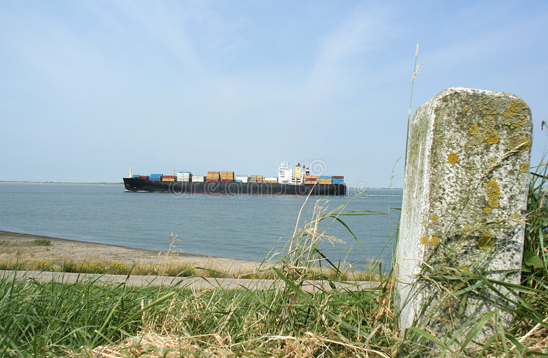 Download Container vessel stock image. Image of blue, forwarding - 152117