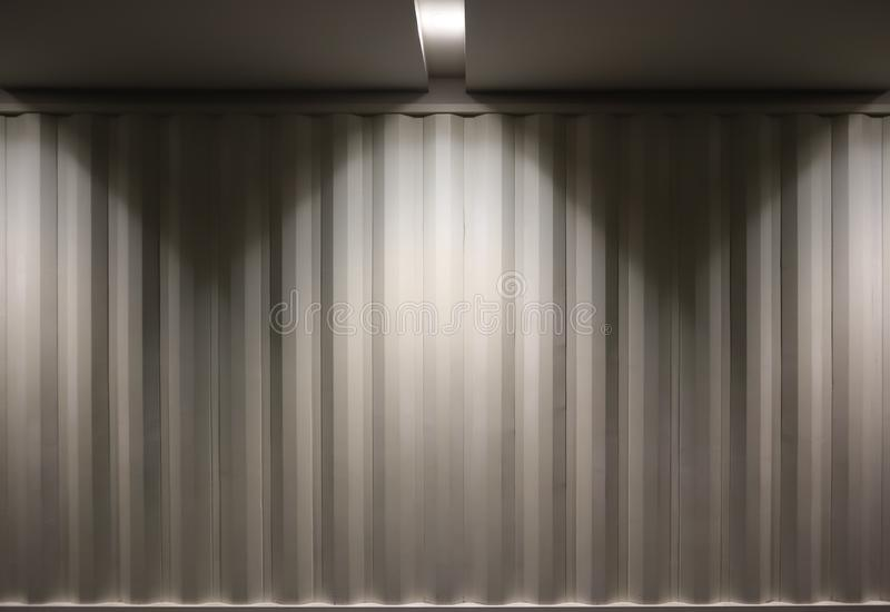 Photo container wall with top light stock photos