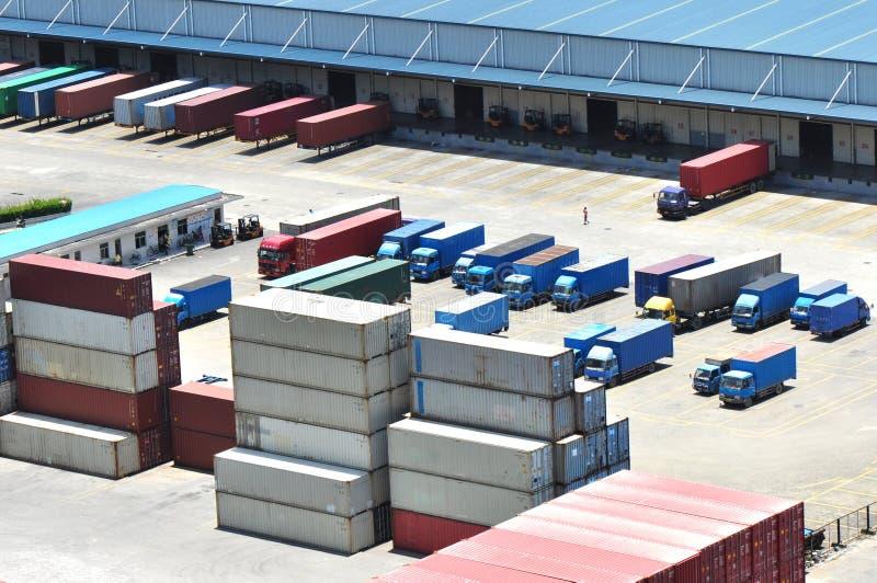 Container warehouse stock photos