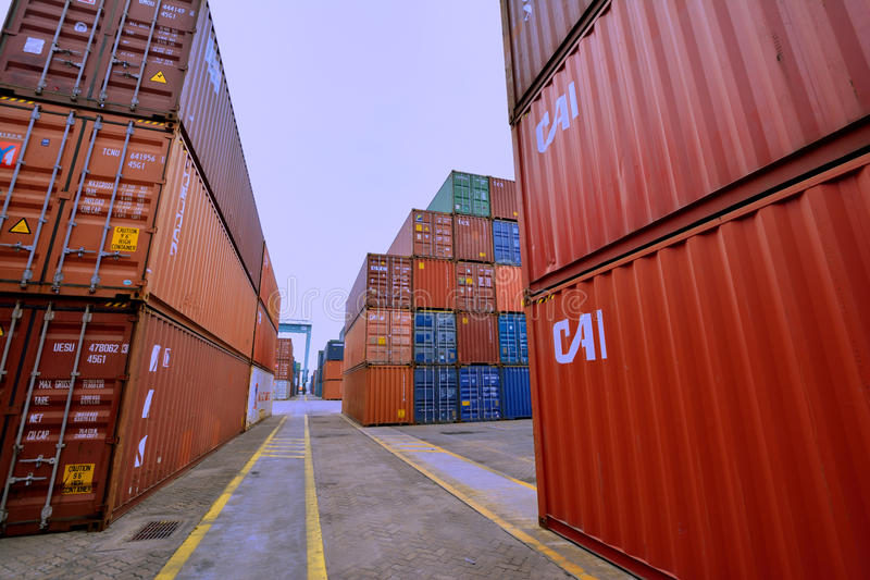 Download Container Yard, Xiamen, Fujian, China Editorial Stock Photo - Image: 33236083