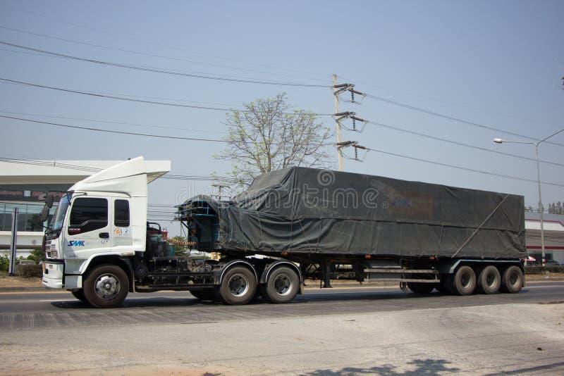 Containerfahrzeug SMK-Logistik-Verkehrsunternehmen stockbilder