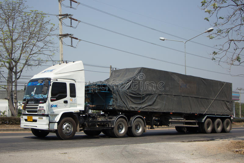Containerfahrzeug SMK-Logistik-Verkehrsunternehmen stockfotos