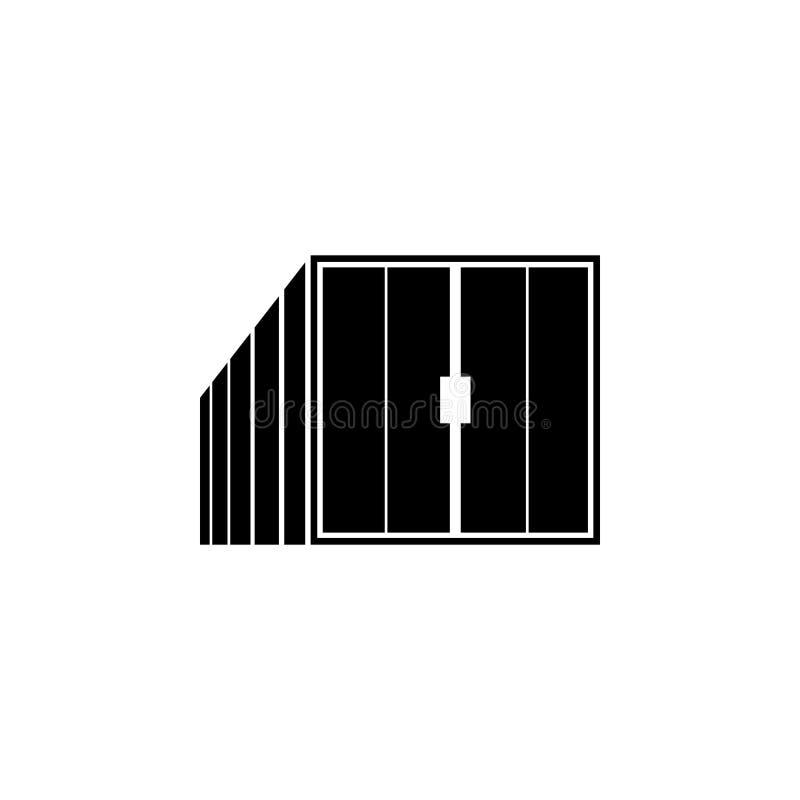 Containerpictogram Element van logistisch voor mobiel concept en Web apps Pictogram voor websiteontwerp en ontwikkeling, app ontw royalty-vrije illustratie