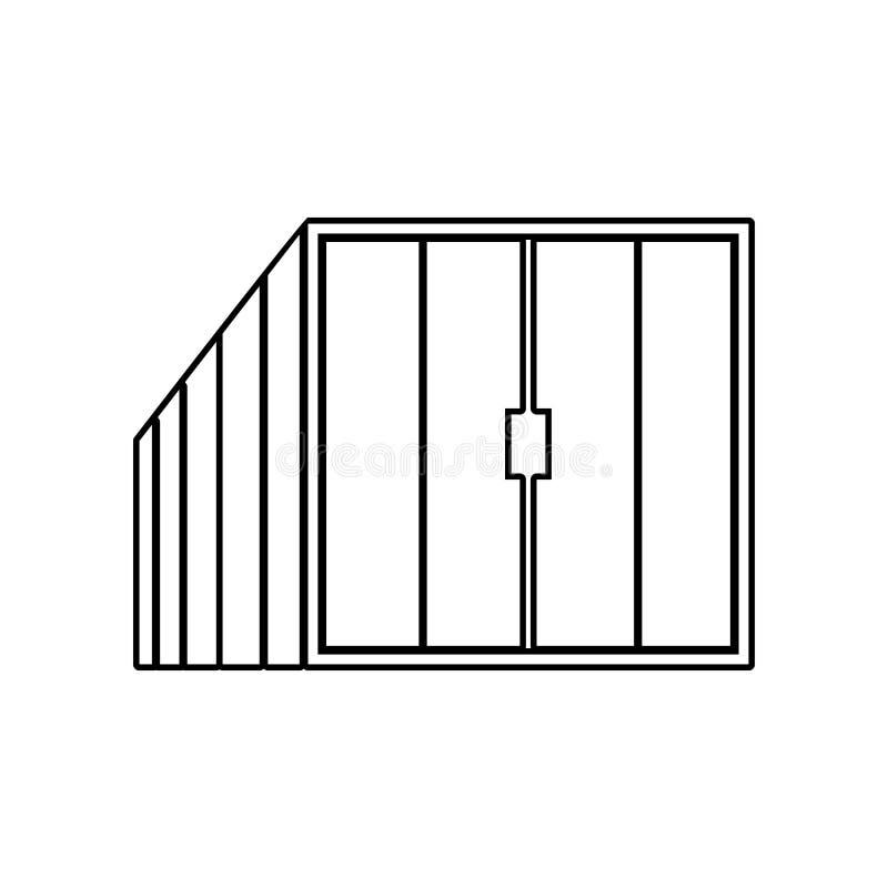 Containerpictogram Element van Logistisch voor mobiel concept en webtoepassingenpictogram Overzicht, dun lijnpictogram voor websi stock illustratie