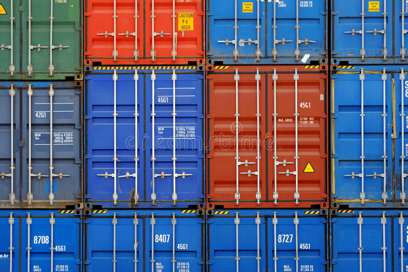 Download Containers stock image. Image of blue, cargo, block, harbour - 13666529