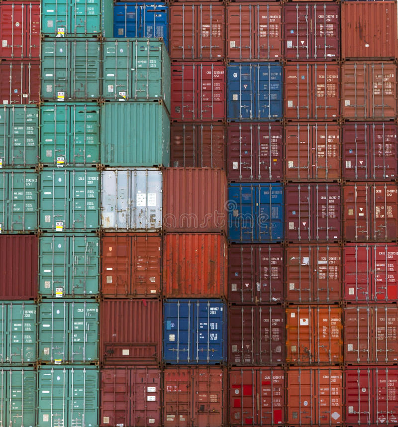 Containers royalty free stock photo