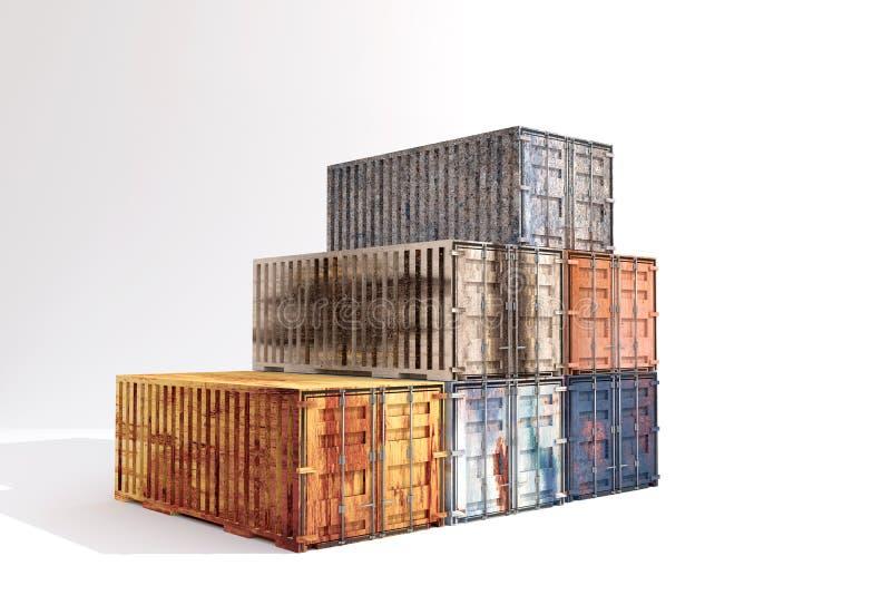 containers vector illustratie