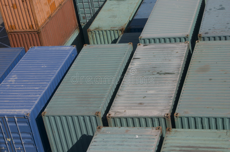 Containers. Container texture royalty free stock photography