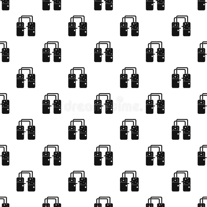 Containers aan de vector die van het buizenpatroon worden aangesloten royalty-vrije illustratie