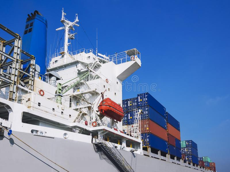 Containers Cargo shipping Logistic freight warehouse Transport Business. Containers Cargo shipping Logistic freight warehouse Transport Import export royalty free stock photos
