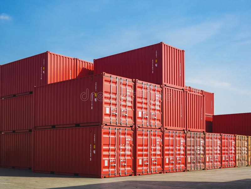 Containers Cargo shipping Logistic freight warehouse Transport Business Background. Containers Cargo shipping Logistic freight warehouse Transport Import export royalty free stock photography