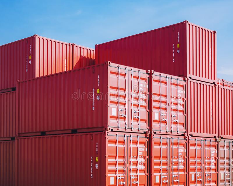 Containers Cargo shipping Logistic freight warehouse Transport Business Background. Containers Cargo shipping Logistic freight warehouse Transport Import export stock image