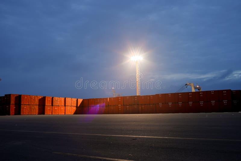 containers op het dok royalty-vrije stock fotografie